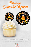 Candy Corn Halloween Cupcake Toppers