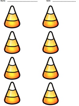 Candy Corn Halloween Fall Number Match Puzzle Math Center