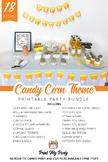 Candy Corn Halloween Theme Printable Party Bundle