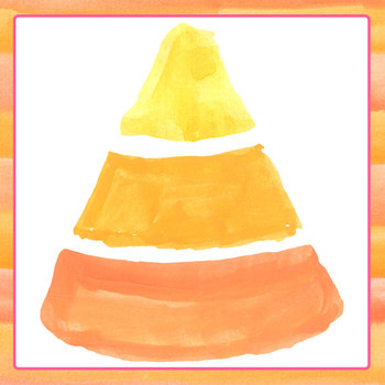 Candy Corn Handpainted Watercolor Clip Art Set Commercial Use