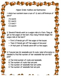 Candy Corn Higher Order Thinking Questions