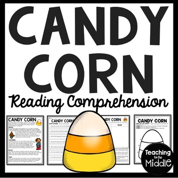 Candy Corn Informational Text Reading Comprehension Worksheet Halloween