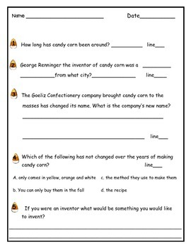 Candy Corn [Informational Text and Citing Proof]