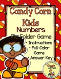 Candy Corn Kids Numbers File Folder Game