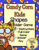Candy Corn Kids Shapes File Folder Game