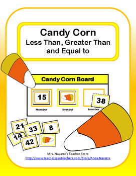 Candy Corn Less Than, Greater Than, and Equal to