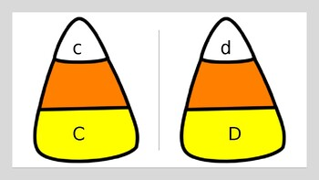 Candy Corn Letter Cards