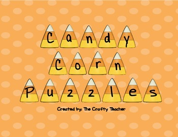 Candy Corn Letter & First Sounds Puzzles