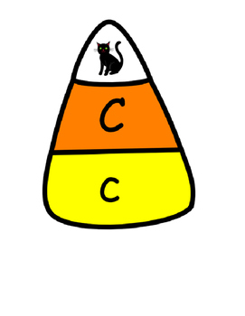 Candy Corn Letter Match