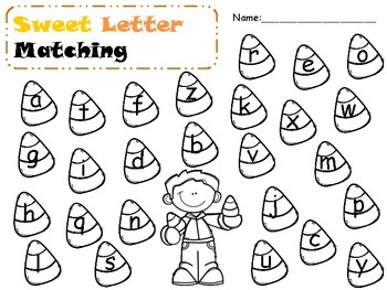 Candy Corn Letter Matching