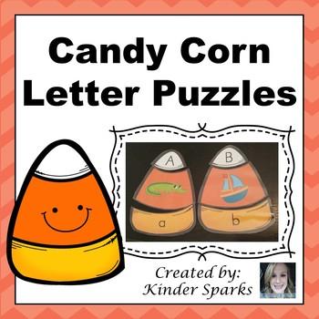 Candy Corn Letter Puzzle