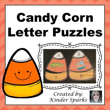 Letter Puzzle- Candy Corn