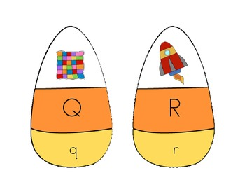 Candy Corn Letter Recognition and Sounds Game
