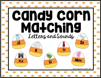 Candy Corn Letter Sound Match
