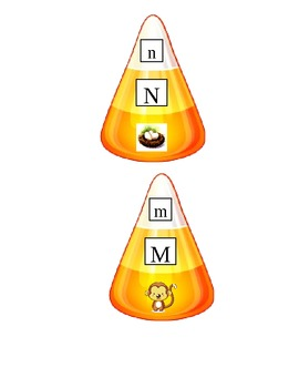 Candy Corn Letter Sound Matching Game