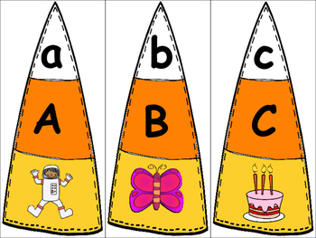 Candy Corn Letter/Sound Puzzles