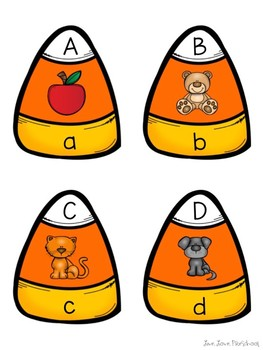 Candy Corn Letter-Sound Puzzles