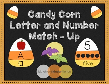 Candy Corn Letter and Number Match *FREEBIE*