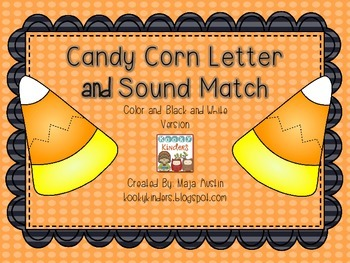 Candy Corn Letter and Sound Match