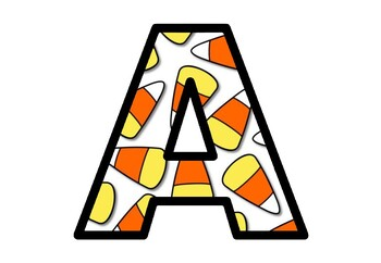 Candy Corn Letters, Bulletin Board Letters, Halloween Alphabet Classroom Decor