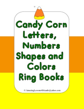 Candy Corn, Letters, Shapes, Numbers anlors Ring Books (Co