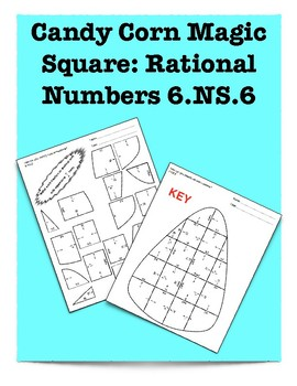 Candy Corn Magic Square: Rational Numbers 6.NS.6