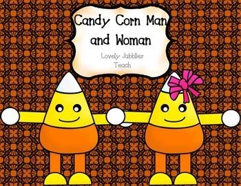 Candy Corn Man Template