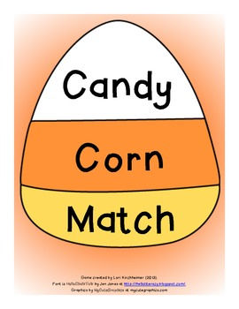 Candy Corn Match - Numeral, Number Word, Tally Representation