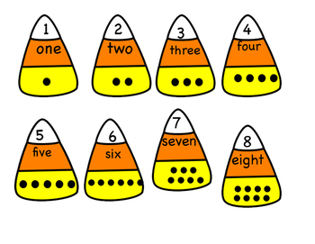 Candy Corn Match Up for Numbers 1-10
