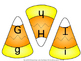 Candy Corn Match: Upper to Lower Case Letters