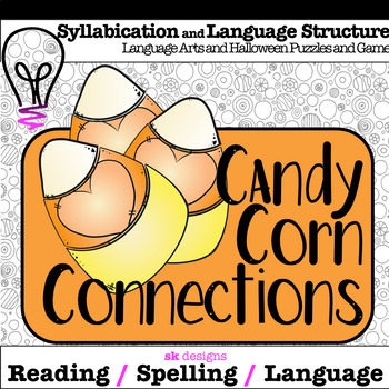 Candy Corn Connections Halloween October Game to Build Language Structure Skills