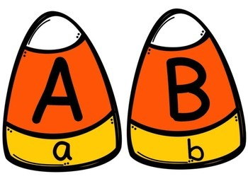 Candy Corn Matching: Letter and Sound Recognition