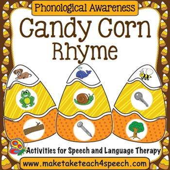 Candy Corn Matching- Rhyme