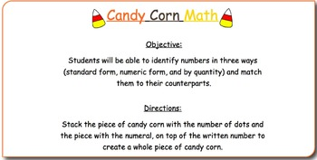 Halloween Candy Corn Math- Interactive Whiteboard Lesson