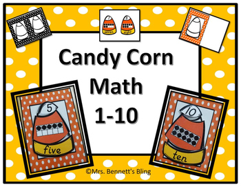 Fall Kindergarten Math 1-10 (Candy Corn Theme)
