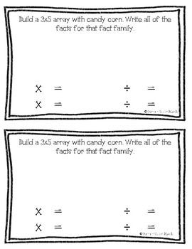 Candy Corn Math Book - Multiplication and Division