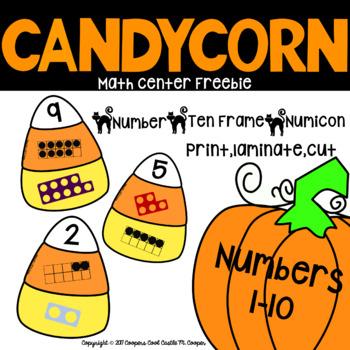 Candy Corn Math Center Freebie