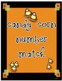 Candy Corn Math Center Number Match Up
