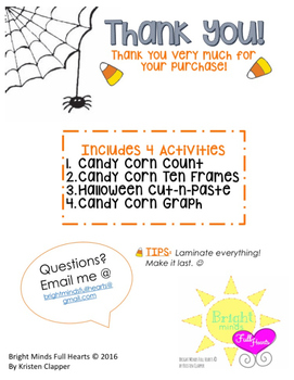 Candy Corn Math Centers