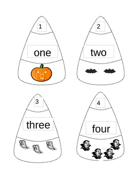 Candy Corn Math Counting Game