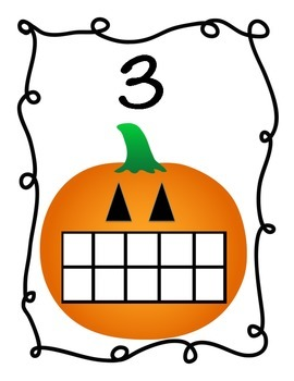Candy Corn Math Game - Ten Frames for numbers 1-10