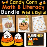 Candy Corn Math & Literacy Bundle Printable Pages & Digita