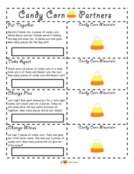 Candy Corn Math Mountains