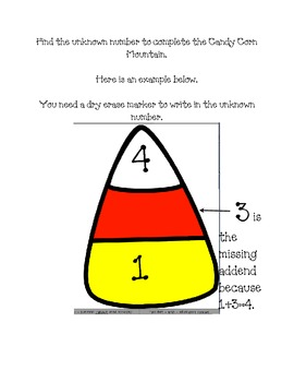Candy Corn Math Mountains: Finding the Unknown Number