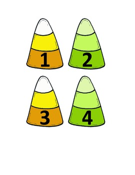 Candy Corn  Math Number Order Center with Patterns - Halloween