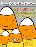 (Candy Corn} Halloween Print & Go! First Grade & Kindergarten Math