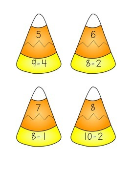 Candy Corn Math - Single-Digit Addition and Subtraction Game