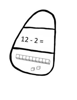 Candy Corn Math Subtraction For Decoration Classroom Door Decor