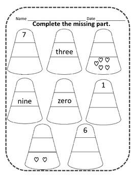 Candy Corn Math Treats