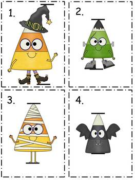 Measurement Halloween Candy Corn Task Cards